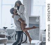 falling in love. full length of ... | Shutterstock . vector #1043167693