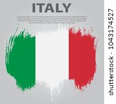 italian flag. flag of italy ... | Shutterstock .eps vector #1043174527