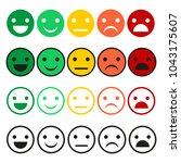 emoticon vector set. emoticon... | Shutterstock .eps vector #1043175607