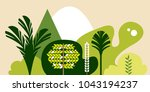 trees broadleaf tropical in a... | Shutterstock . vector #1043194237