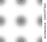 seamless pattern with dotted... | Shutterstock . vector #1043197363