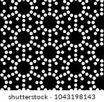 seamless vector pattern with... | Shutterstock .eps vector #1043198143