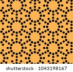seamless vector pattern with... | Shutterstock .eps vector #1043198167