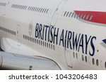 Small photo of Johannesburg, South Africa - 02 24 2018: Logo of British Airways on an Airbus A 380