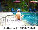 cute little boy having fun in... | Shutterstock . vector #1043225893