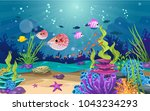marine habitats and the beauty... | Shutterstock .eps vector #1043234293