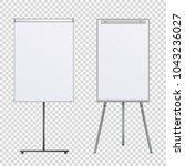 empty flip chart blank on... | Shutterstock .eps vector #1043236027