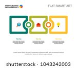 three phases process chart... | Shutterstock .eps vector #1043242003