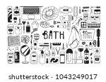hand drawn illustration beauty... | Shutterstock .eps vector #1043249017