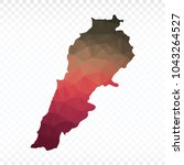 map polygonal lebanon map.... | Shutterstock .eps vector #1043264527