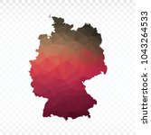map polygonal germany map.... | Shutterstock .eps vector #1043264533