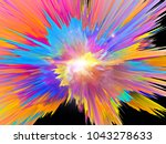 explosion of saturated virtual... | Shutterstock . vector #1043278633