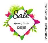 spring sale banner template... | Shutterstock .eps vector #1043292253