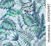 exotic animal chameleon hiding... | Shutterstock .eps vector #1043296987