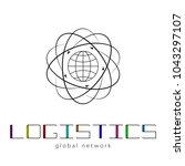 global logistics network. map... | Shutterstock .eps vector #1043297107