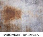rust on zinc wall background.... | Shutterstock . vector #1043297377