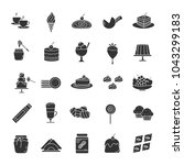 confectionery glyph icons set.... | Shutterstock .eps vector #1043299183