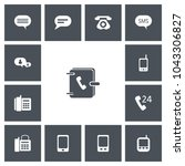 set of 13 editable phone icons. ...