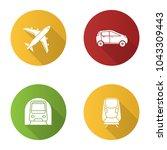 public transport flat design... | Shutterstock .eps vector #1043309443