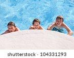 Cute Boys Have Fun In The Pool