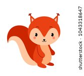adorable squirrel in modern... | Shutterstock .eps vector #1043318647