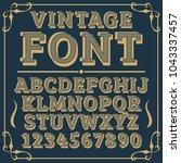 letters vintage vector design... | Shutterstock .eps vector #1043337457