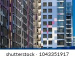 facing the building with a... | Shutterstock . vector #1043351917