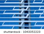 facing the building with a... | Shutterstock . vector #1043352223