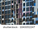 facing the building with a... | Shutterstock . vector #1043352247