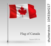 national flag of canada... | Shutterstock .eps vector #1043364217