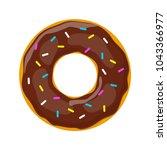 vector donut icon | Shutterstock .eps vector #1043366977