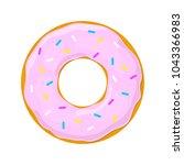 vector donut icon | Shutterstock .eps vector #1043366983