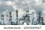 close up industrial view at oil ... | Shutterstock . vector #1043369467