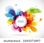 abstract colored flower... | Shutterstock .eps vector #1043371897