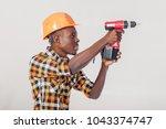 african american construction...   Shutterstock . vector #1043374747