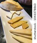 fresh cheese  semi cured cheese ... | Shutterstock . vector #1043378863