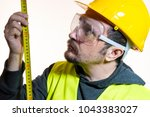 a man who wants to do a work... | Shutterstock . vector #1043383027