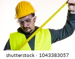 a man who wants to do a work... | Shutterstock . vector #1043383057