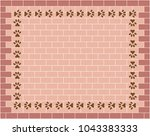 brick wall graphic background...   Shutterstock .eps vector #1043383333