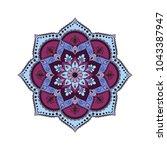 flower mandala. vintage... | Shutterstock .eps vector #1043387947