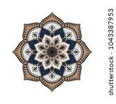 flower mandala. vintage... | Shutterstock .eps vector #1043387953