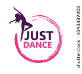 dance logo vector design symbol | Shutterstock .eps vector #1043389303
