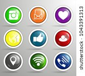icons for social networking... | Shutterstock .eps vector #1043391313