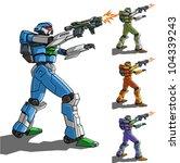 vector illustration of robot... | Shutterstock .eps vector #104339243