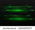 abstract green flash and laser... | Shutterstock .eps vector #1043399257