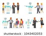 artificial intelligence concept ... | Shutterstock .eps vector #1043402053