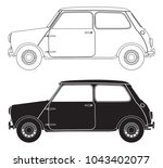 small car outlines isolated on... | Shutterstock .eps vector #1043402077