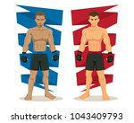 mma mixed martial arts fighters ... | Shutterstock .eps vector #1043409793