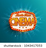 text   movie time cinema in the ... | Shutterstock . vector #1043417053