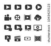 vector image set of video icons.